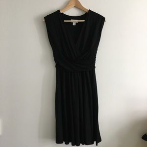 LOFT Ann Taylor V Neck Sleeveless Pleated Dress